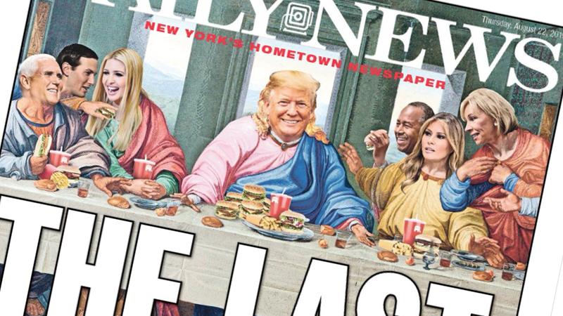 A Última Ceia de Trump. A capa do jornal americano que está a gerar furor