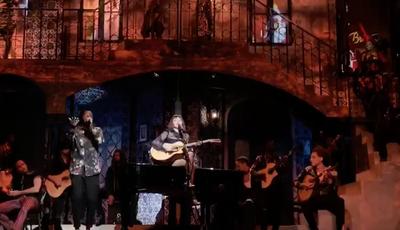 """O primeiro vídeo de Madonna no Coliseu de Lisboa: 'rainha da pop' canta """"Sodade"""" com Dino d'Santiago"""