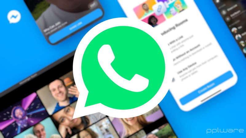 Dica: Já pode usar o Messenger Rooms na versão web do WhatsApp