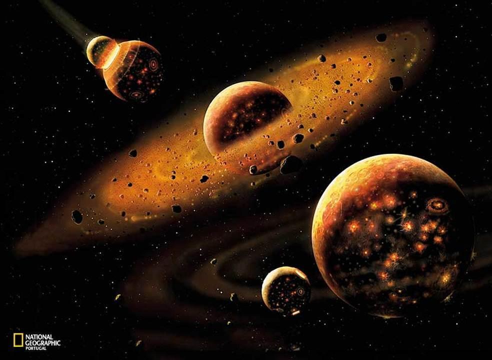 O nascimento e evolução da Lua