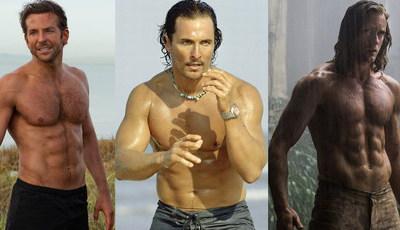 De Bradley Cooper a Matthew McConaughey: Os abdominais que ajudam a vender filmes