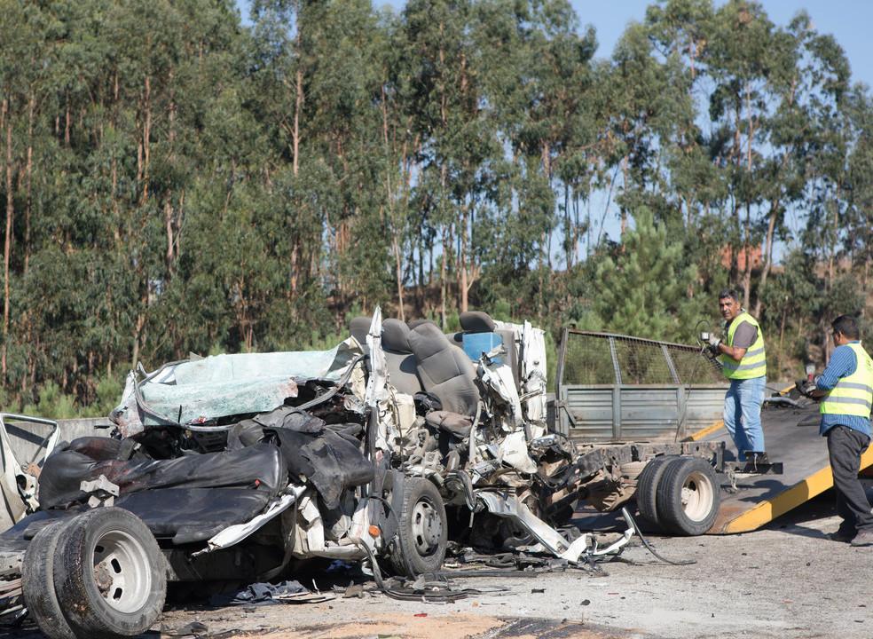 Pelo menos 6 mortos em acidente no IC8. Trânsito cortado nos dois sentidos em Pombal