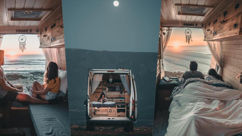 Casal cansado da rotina transformou uma carrinha na sua nova casa e agora vivem na estrada