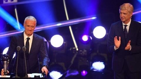 Didier Deschamps eleito melhor treinador nos prémios 'The Best' da FIFA