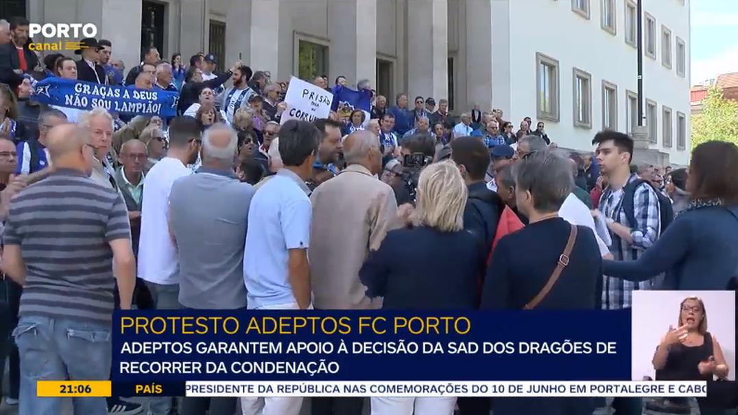 Assim foi a semana: Centenas de adeptos do FC Porto protestam contra a condenação no caso dos emails