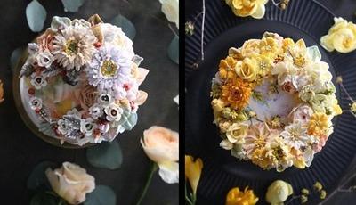 Todo o ano é primavera nestas delicadas flores em creme de manteiga