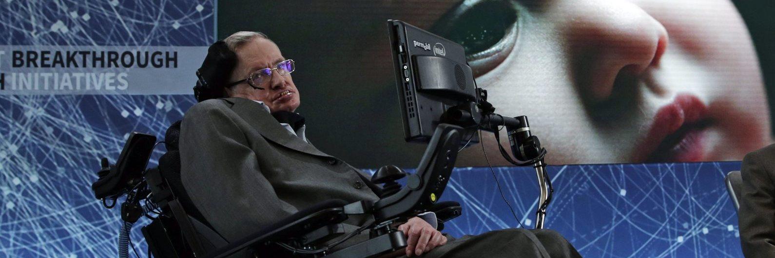 """Stephen Hawking esteve em """"versão holograma"""" a responder a perguntas em Hong Kong"""