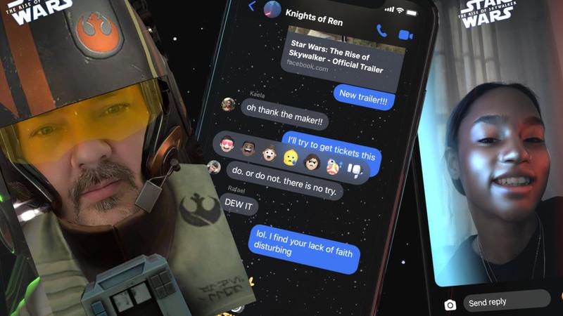 """Liberte a """"Força"""" que há em si com os novos efeitos Star Wars de RA para o Messenger"""