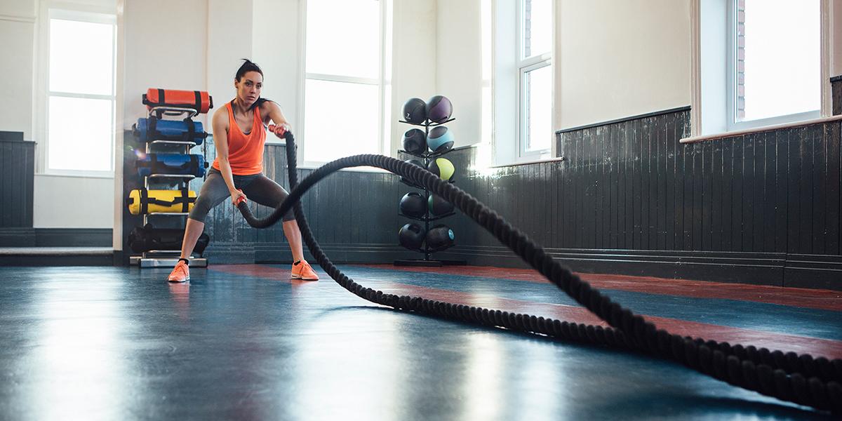 Fique em forma com a Battle Rope