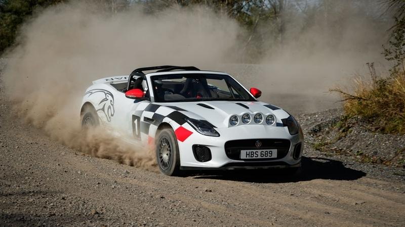 Jaguar F-Type agora em modo rali
