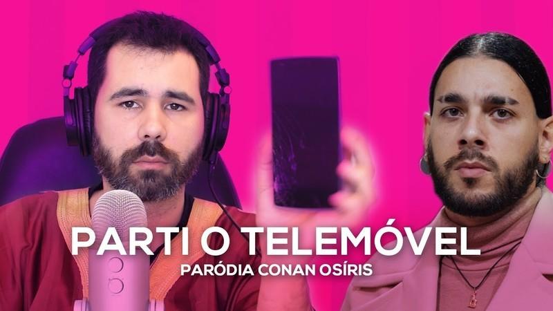"""""""Parti o meu telemóvel a ouvir a música"""": Guilherme Duarte faz paródia do tema de Conan Osíris"""