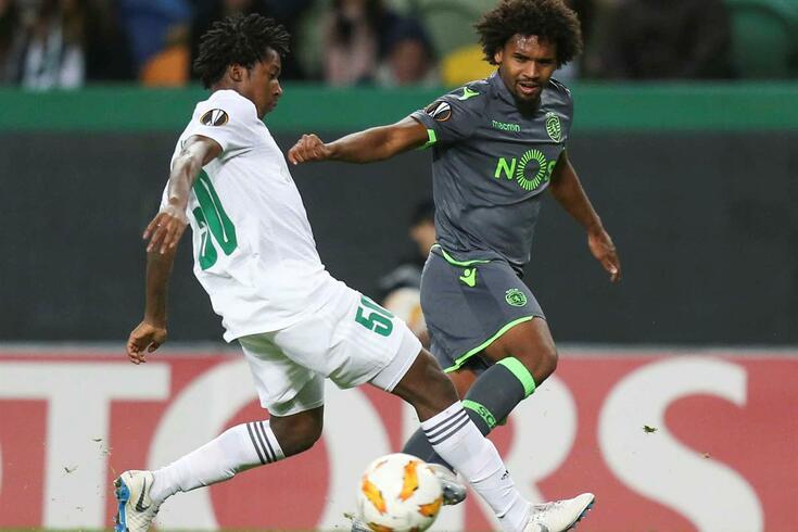 Sporting renova com Bruno Paz no dia em que anunciou a saída de Nani