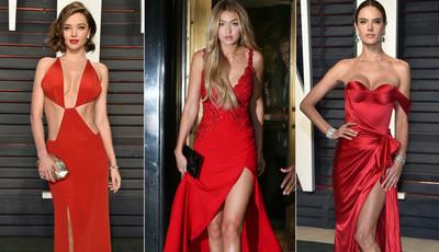 O vermelho 'fatal' das maiores modelos do mundo