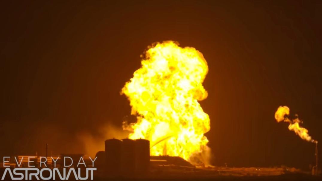 Teste do Starhopper da SpaceX escaldou. Motor raptor incendeia-se