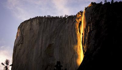 Cascata de fogo em Yosemite, um espetáculo único e efémero