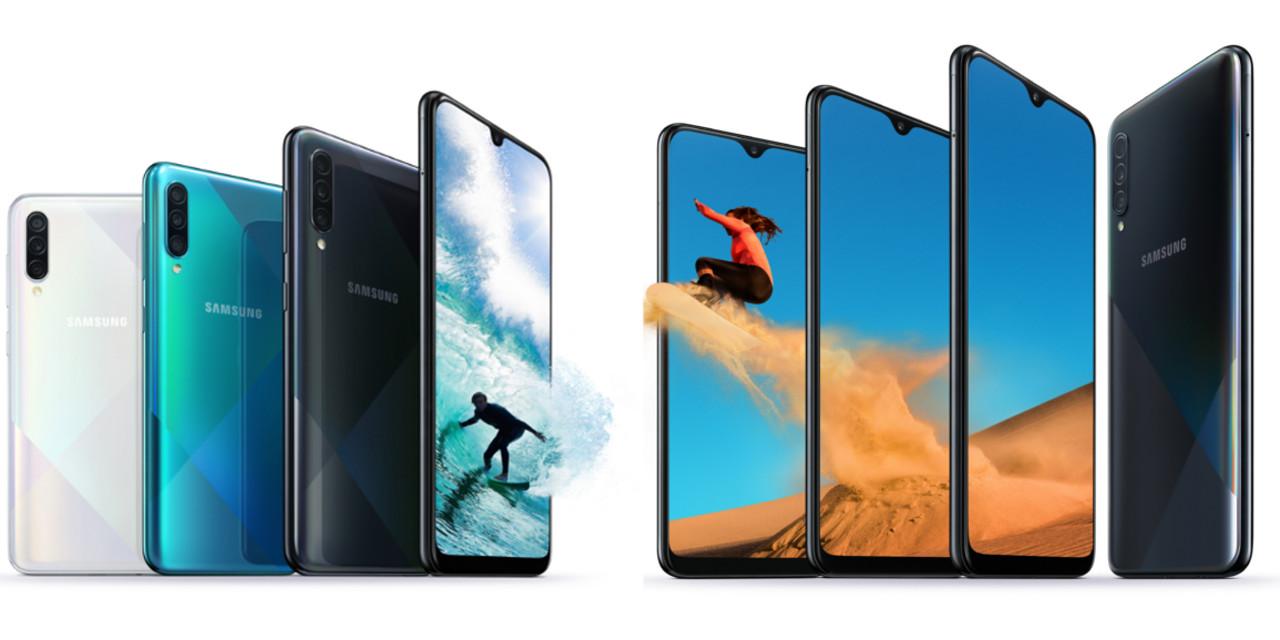 Samsung atualiza modelos Galaxy A50 e A30 com novo design e funcionalidades