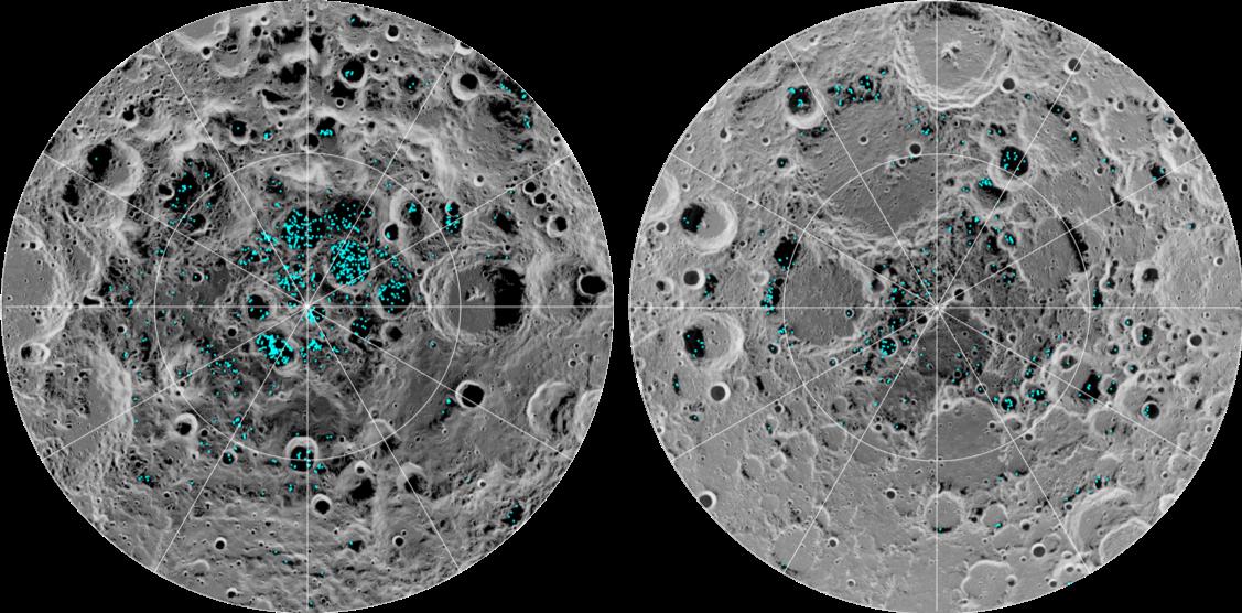 Cientistas afirmam ter descoberto água congelada na superfície da lua