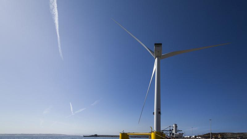 Primeira central eólica marítima em Portugal começa a ganhar forma