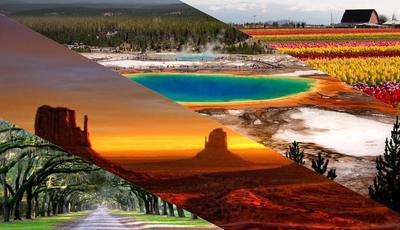 Os 25 locais mais fotogénicos dos EUA. Deixe-se encantar