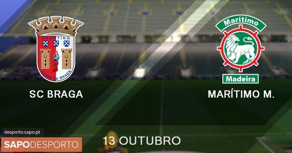 Acompanhe o SC Braga - Marítimo AO VIVO