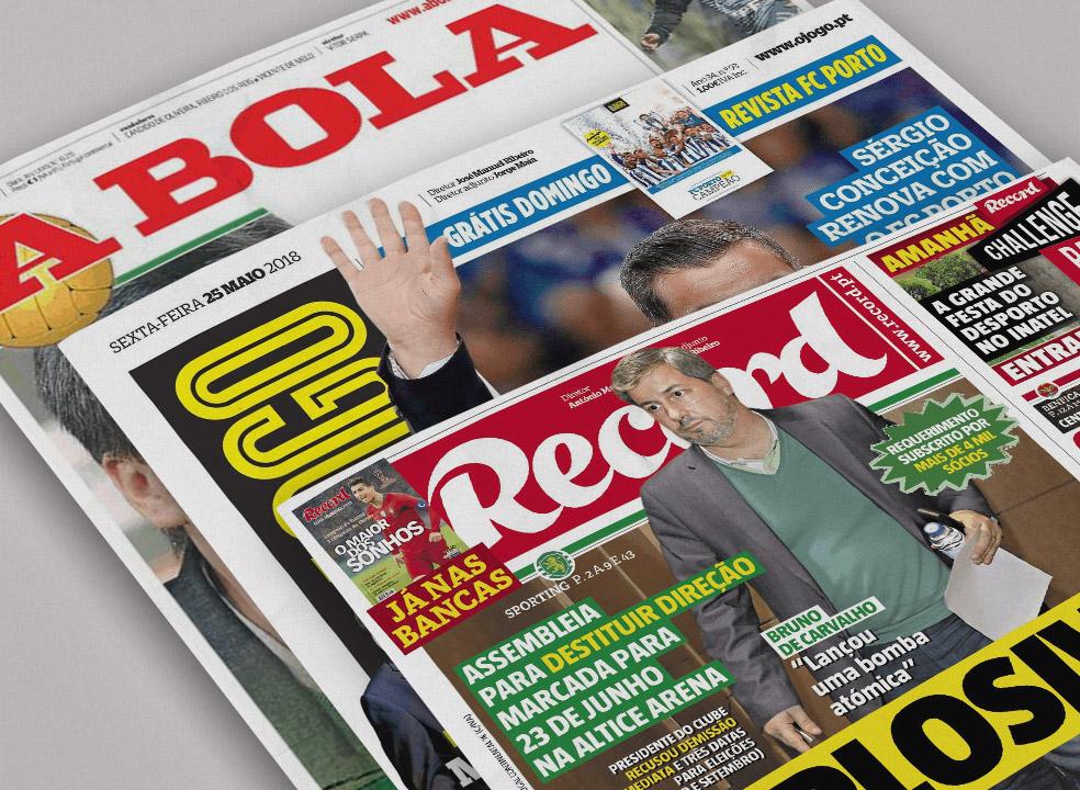 Revista de imprensa: Ponto de interrogação no Sporting e uma certeza chamada Sérgio Conceição