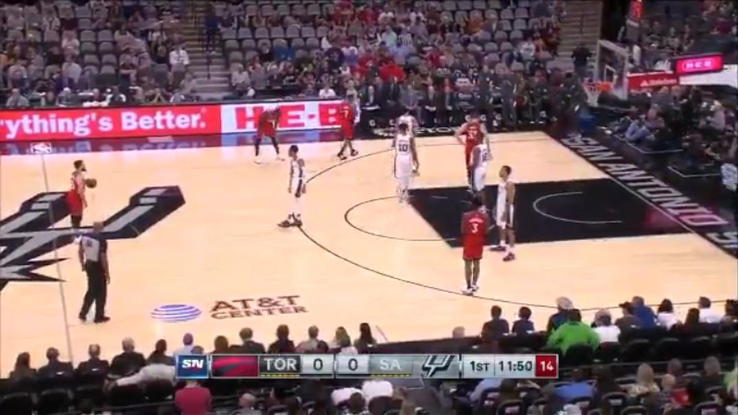 Esta foi a forma como Raptors e Spurs homenagearam Kobe Bryant