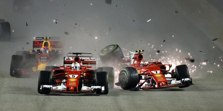 F1/GP Singapura: Partida louca deixa Vettel, Raikkonen e Verstappen fora de prova