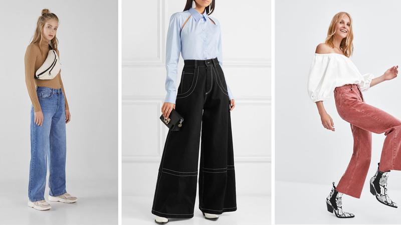 #tendência: wide leg jeans, o modelo do momento