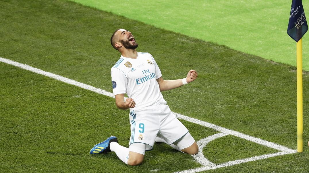 Benzema marca um golo que parece mentira numa final da Champions