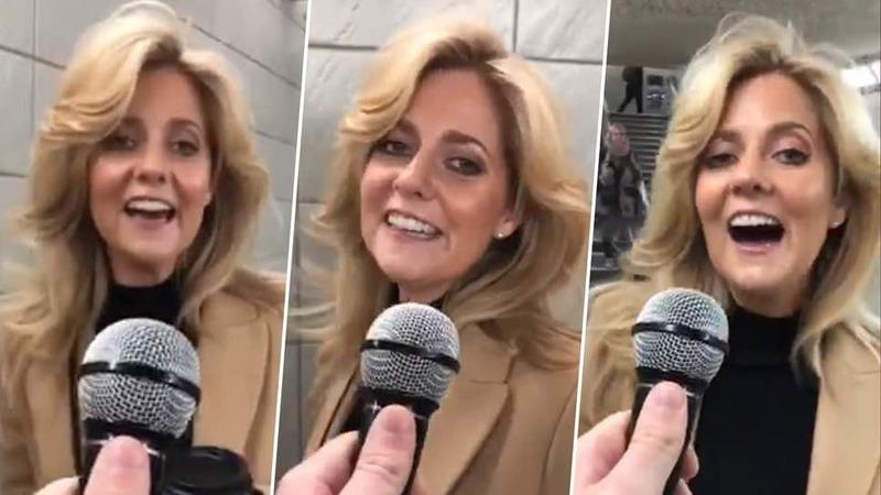 """""""Assim Nasce uma Estrela""""... no metro: britânica surpreende ao cantar """"Shallow"""" em entrevista de rua"""