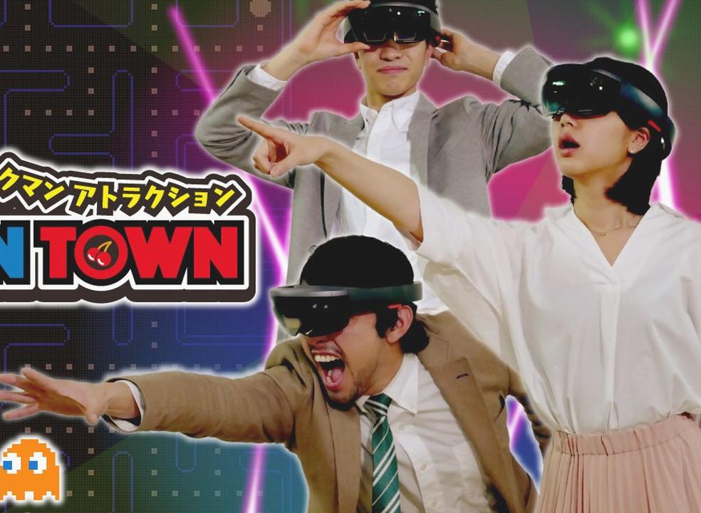 Jogar Pac-Man com óculos de realidade aumentada Hololens? Sim, por favor!