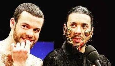 Festival da Canção: António Raminhos e Ana Bola recriam máscara de Conan Osíris