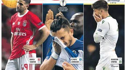 O desaire europeu do futebol português