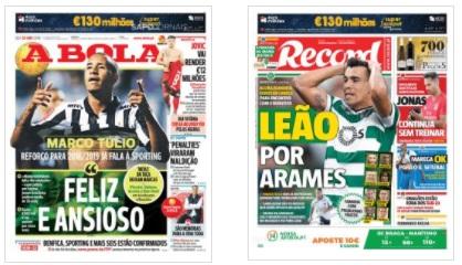 As lesões no Sporting, Marco Túlio, e Militão na revista de imprensa