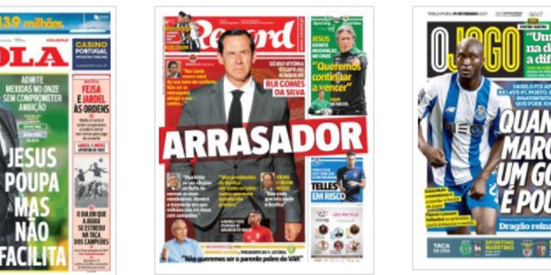 Rui Gomes da Silva, as poupanças de Jesus e Danilo são os destaques das manchetes