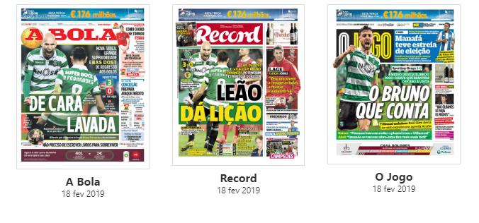 Revista de imprensa: Leão 'de cara lavada' domina manchetes