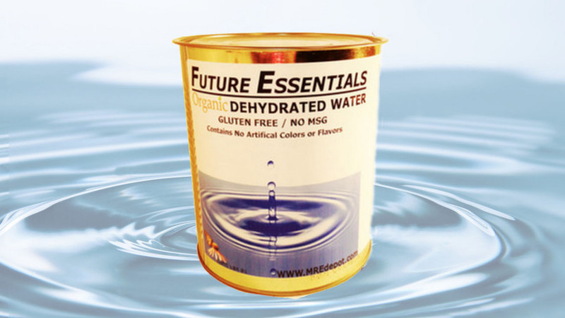 Quem quer uma lata de água desidratada por €16?