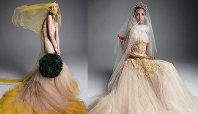 Vestidos de noiva coloridos: a tendência de 2019