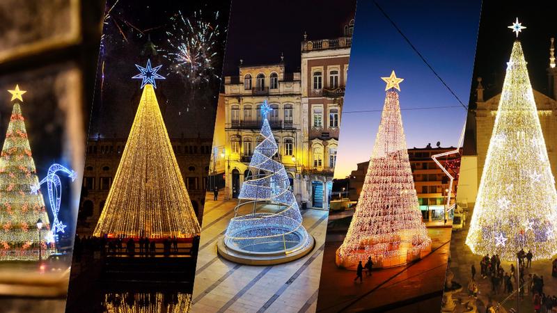 Iluminações de Natal para ver por todo o país