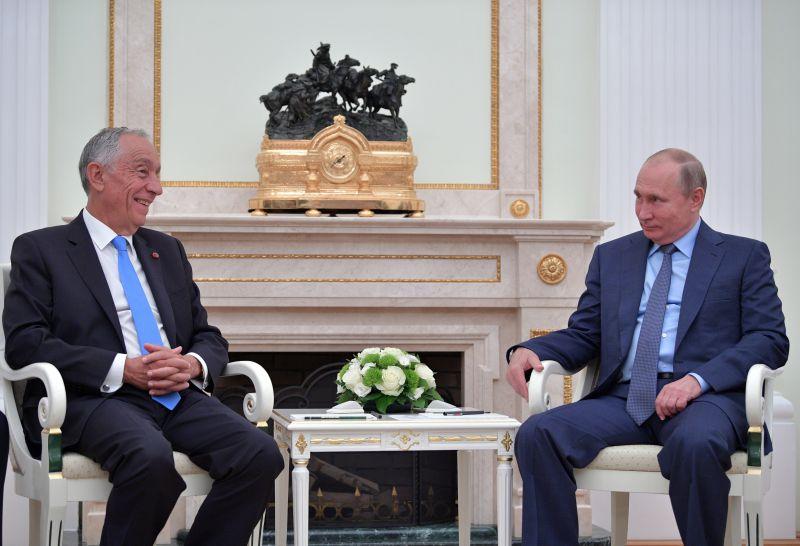 Mundial 2018: Marcelo fala com Putin de um possível jogo entre Rússia e Portugal