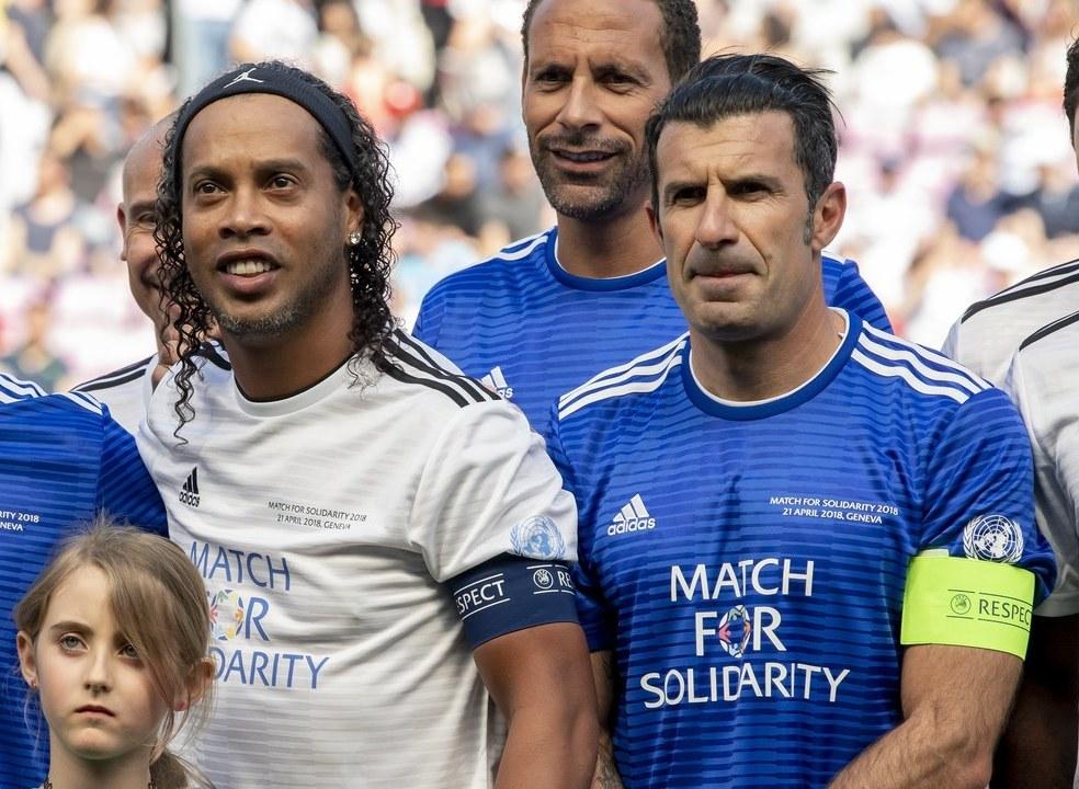 Equipa de Luís Figo vence jogo de solidariedade da UEFA e das Nações Unidas