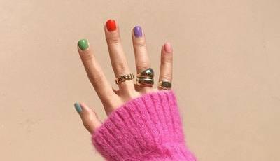 Pintar uma unha de cada cor: como escolher as cores