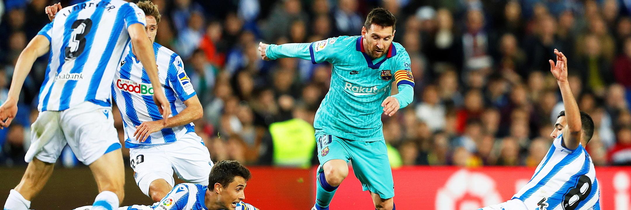 Barcelona empata com Real Sociedad e pode ser ultrapassado pelo Real Madrid